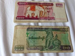 ミャンマーの通貨Kyat