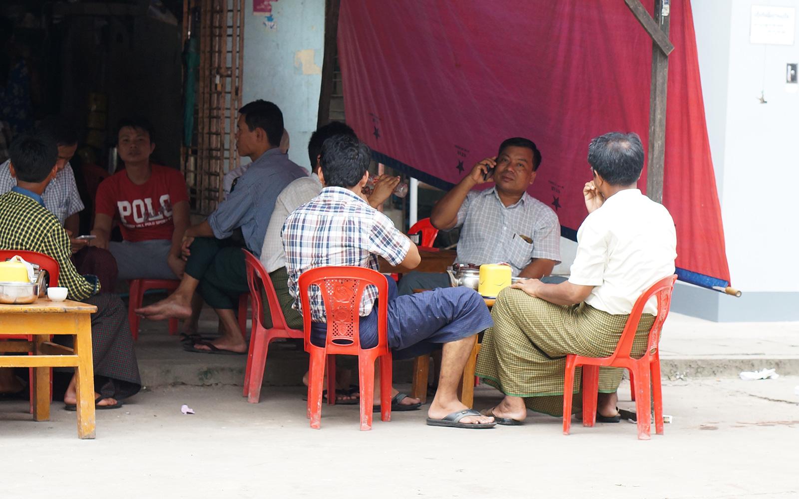 ミャンマーの市街地